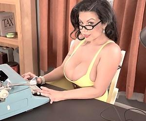 Big Tits Secretary Porn Pictures